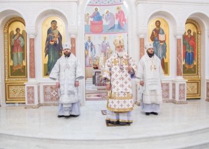 Литургия в Софийском соборе